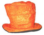 Orangefarbener Velours-Hut orange
