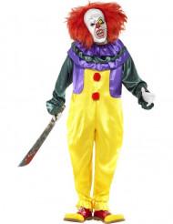 Horror-Clown Halloween-Kostüm gelb-rot