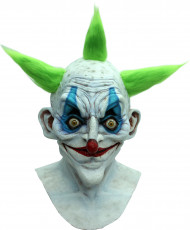 Horror Clown Maske Halloween Vollmaske weiss-bunt