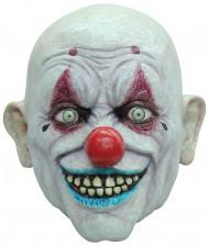 Glatzköpfige Clowns-Maske für Erwachsene bunt