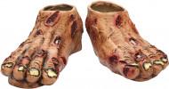 Halloween Zombie-Schuhüberzieher mit Narben hautfarben