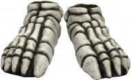 Halloween Skelett-Füße Kostümzubehör grau