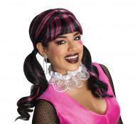 Monster High ™ Draculaura Halloween-Damenperücke schwarz-pink