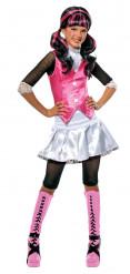 Halloween Kinderkostüm Draculaura Monster High™ Lizenzartikel weiss-schwarz-pink