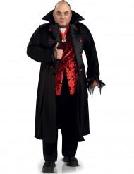 Blutdurstiger Vampir Halloween-Herrenkostüm schwarz-rot-weiss