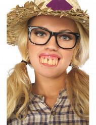 Gebiss mit langen Zähnen
