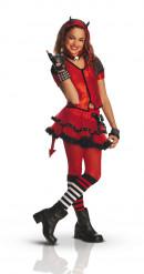 Freche Teufelin Halloween-Kinderkostüm für Mädchen rot-schwarz