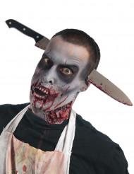 Halloween Messer-Haarreif schwarz-silber-rot