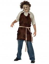 Leatherface Metzgerschürze Halloween-Accessoire Texas Chainsaw Massacre™ Lizenzartikel braun-beige