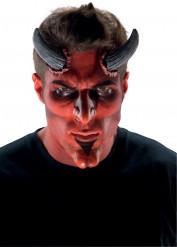 Teuflisches Make-up Zubehör Nase und Kinn aus Latex 2-teilig rot