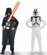 Star Wars™ Kostüm-Set für Kinder Darth Vader Clone Trooper Lizenzware schwarz-weiss