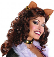 Monster High™ Clawdeen Wolf Halloween-Perücke mit Ohren braun