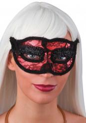 Rote Spitzen-Augenmaske für Erwachsene rot