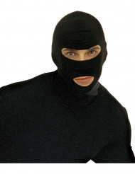 Schwarze Sturmmaske Verbrecher schwarz