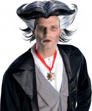 Halloween Vampir Herren-Perücke schwarz-weiss