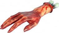Abgehackte Leichen-Hand Halloween-Deko haut-rot 37x15x6cm