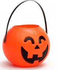 Halloween Tasche Kürbis orange-schwarz 14cm