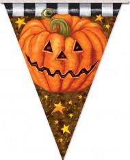 Kürbis Wimpelgirlande Halloween Party-Deko bunt 360x29cm