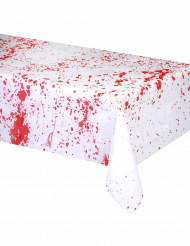 Blutige Halloween Tischdecke weiss-rot 150x200cm