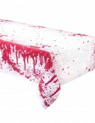Blutige Tischdecke Halloween Tischdeko rot-weiss