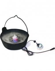 Rauch und LED-Licht für Hexen-Kessel