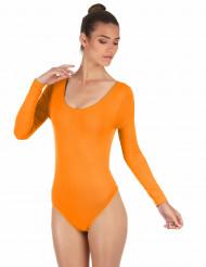 Elastischer Body langarm orange