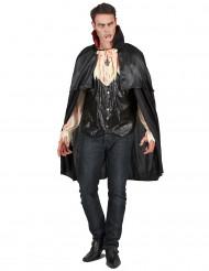 Blutrünstiger Vampir Halloween Herrenkostüm schwarz-beige