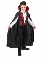 Eleganter Vampir Halloween Kinderkostüm schwarz-rot-weiss