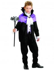 Vampirfürst Halloween-Kinderkostüm lila-weiss-schwarz