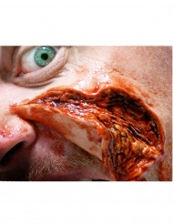 Fleischwunde Halloween-Tattoo-Set 2-teilig hautfarben-rot