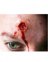 Eingebrannte Wunde Halloween-Abziehbild 4 Stück rot