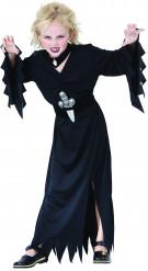 Halloween-Kinderkostüm Vampirhexe schwarz