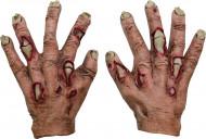 Halloween Zombie-Handschuhe mit Narben für Kinder hautfarben