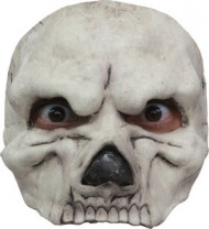 Skelett Halbmaske - Halloween beige
