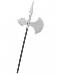 Mittelalter-Axt Halloween-Waffe schwarz-silber 62cm