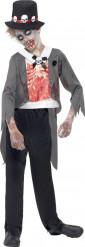 Zombie Bräutigam Halloween Kinderkostüm schwarz-grau