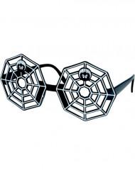 Halloween  Erwachsene Spinnweben-Brille schwarz-weiss