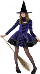 Bezaubernde Hexe Halloween Teenkostüm schwarz-lila