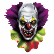 Horror-Clown Halloween-Party Deko bunt 38cm