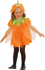 Kleiner Kürbis Kinder-Kostüm orange-schwarz-grün