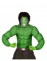 Comic Muskelshirt für Kinder Superheld grün