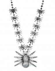 Spinnen-Halskette Schmuck 40cm schwarz