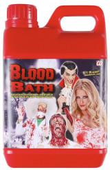 Kanister mit Kunstblut Halloween-Accessoire rot 1,89l