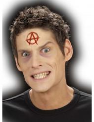 Anarchie Brandzeichen Halloween Latexapplikation hautfarben-rot