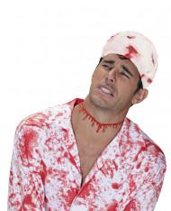Blutige Bandage Horror-Bandage weiss-rot 6,8m