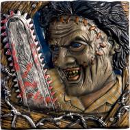 Texas Chainsaw Massacre™ Halloween-Wanddeko Lizenzware bunt 36x36cm