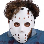 Hockey-Maske Halloween Kostümaccessoire weiss