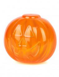Transparente Kürbis Box Halloween Tischdekoration orange 5x5cm