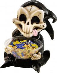 Gruseliger Bonbon Behälter schwarz-beige