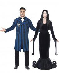 Gothic Herzog Vampir Paarkostüm schwarz-blau-weiss